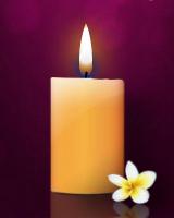 リアルなキャンドルに灯がともります。キャンドルに触れると、灯が消えて煙が立ちのぼります。