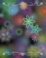 ブログパーツを貼ると、貼ったサイトの数だけ花の色と数が増えていきます。