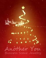 複数のカラーパターンのクリスマスツリーが3次元で表示されます。サンタクロースがソリでくるくると回ります。