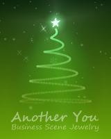 背景色ごとに、さまざまな色のクリスマスツリーが3次元で表示されます。