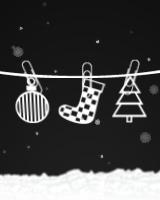 華やかでカラフルなクリスマに、モノクロームのブログパーツです。ただし、カラフルな妖精がたまに現われます。