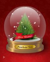 クリスマスツリーやスノーマンなどが現われます。シェイクすると、中身が入れ替わり、お好きなメッセージが表示されます。