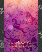 クリスマス装飾模様の曇りガラス越しに雪の結晶が降ります。ブログ画面全体にも雪の結晶が降ります。